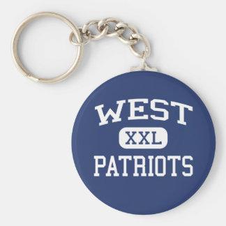 Patriotas del oeste Binghamton medio Nueva York Llaveros