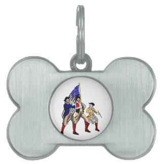 Patriotas Placa Mascota