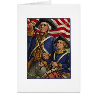 Patriotas revolucionarios tarjeta de felicitación