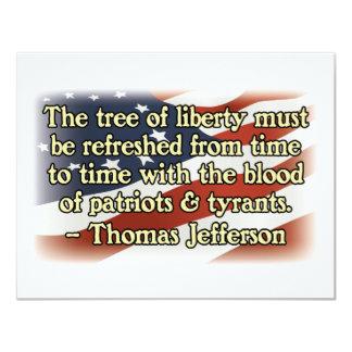 Patriotas y tiranos de Thomas Jefferson Anuncio Personalizado