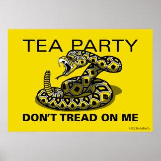 PatriotBites TEA PARTY Diamondback Poster