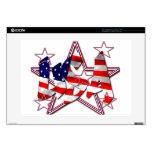 "patriotic 15"" laptop decal"