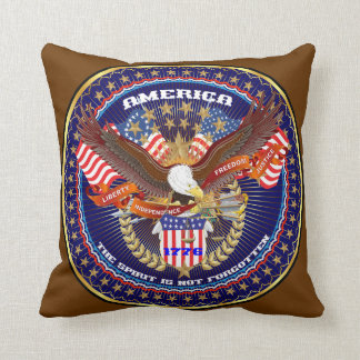 Patriotic 1 Color 2 Designs Front Back All Styles Throw Pillow