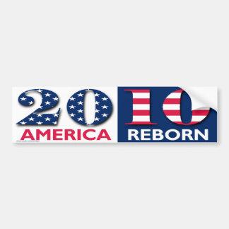 "Patriotic ""2010 America Reborn"" sticker"