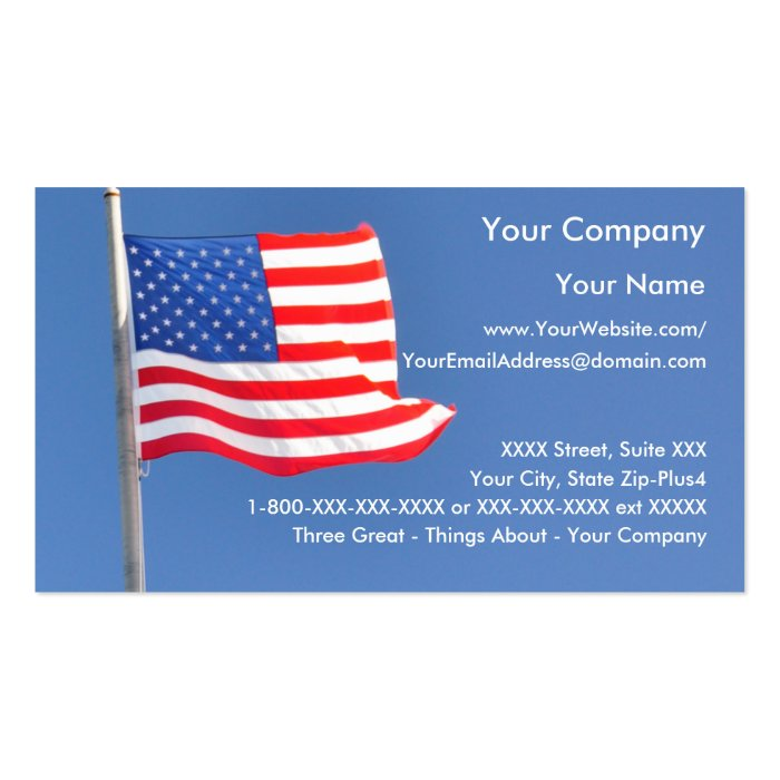 Patriotic 2 business card template zazzle for Patriotic business card template