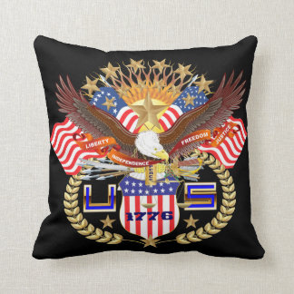 Patriotic 2 Color 2 Designs Front Back All Styles Throw Pillow