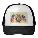 Patriotic 2 mesh hats