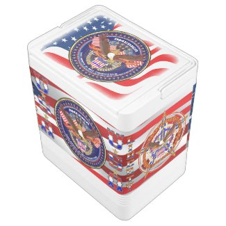 Patriotic 4th July Igloo 24 Can Cooler Dif Design