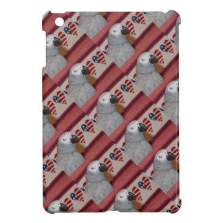 Patriotic 4th of July African Grey iPad Mini Cases