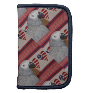 Patriotic 4th of July African Grey Folio Planners