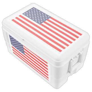Patriotic 4th of july American flag chest cooler