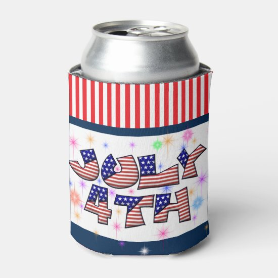 Patriotic 4th of July Can Cooler