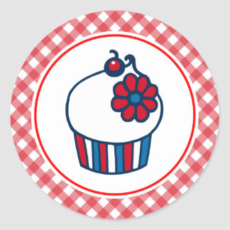 Patriotic 4th of July Cupcake Stickers