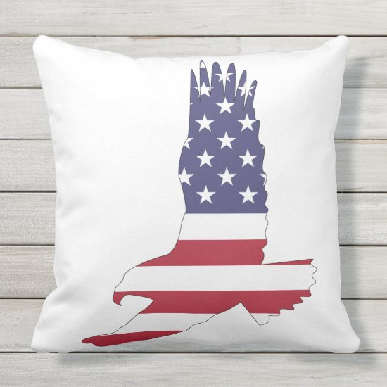 Patriotic, 4th of July, Eagle Outdoor Pillow