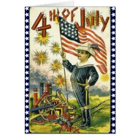 Patriotic 4th of July Greeting Card