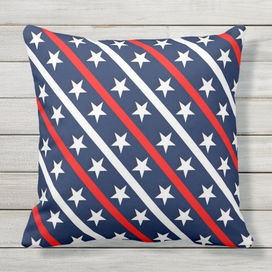 Patriotic, 4th of July, Outdoor Pillow