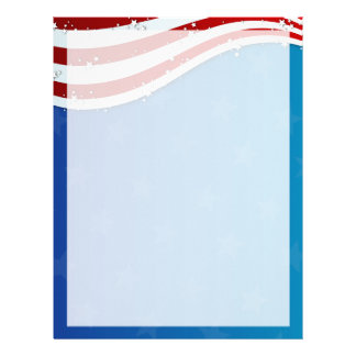 patriotic 4th of july paper letterhead