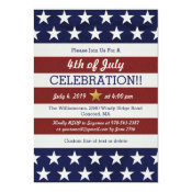 Patriotic 4th Of July Party USA American Flag Invitation