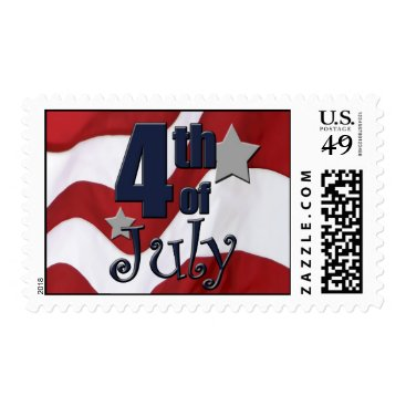 USA Themed Patriotic 4th of July Postage