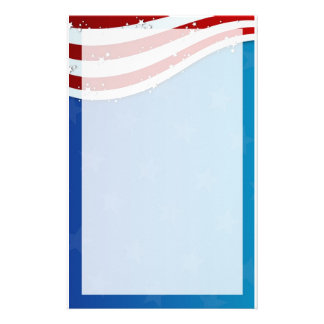 patriotic 4th of july stationary stationery