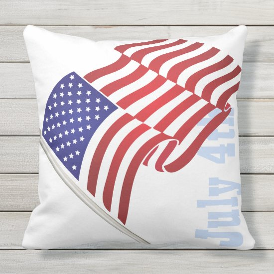 Patriotic, 4th of July, USA Flag, Old Glory Throw Pillow