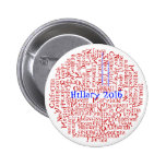 Patriotic 50 States 1 Button Hillary Clinton 2016