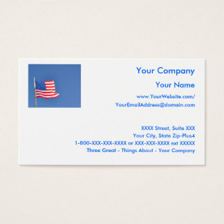 Patriotic 5 - business card template