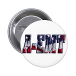 PATRIOTIC A-EMT FLAG WRAPPED EMERGENCY MED TECH 2 INCH ROUND BUTTON