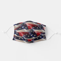 Patriotic Abstract American Flag Collage Cloth Face Mask