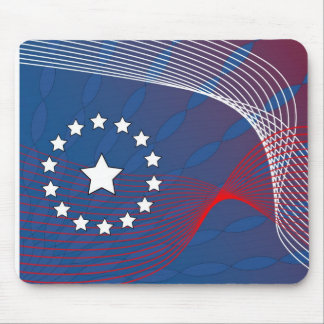 Patriotic Abstract Mouse Pad