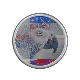 Patriotic African Grey Bluetooth Speaker