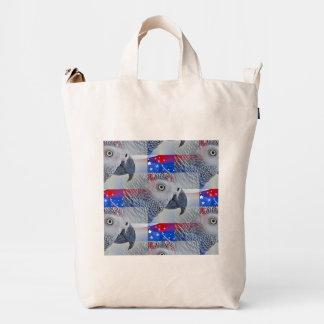 Patriotic African Grey Duck Bag