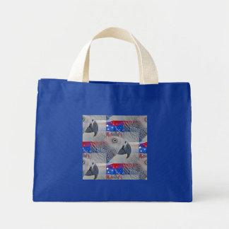 Patriotic African Grey Mini Tote Bag