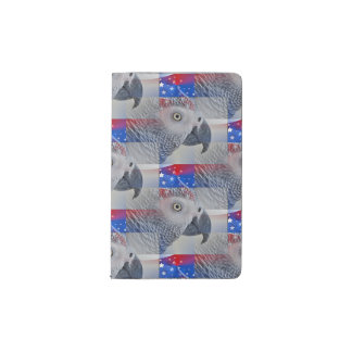 Patriotic African Grey Pocket Moleskine Notebook Cover With Notebook