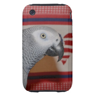 Patriotic African Grey Parrot iPhone 3 Tough Case