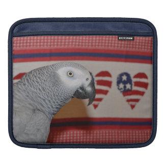 Patriotic African Grey Parrot iPad Sleeve