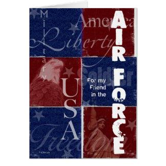 Patriotic Air Force Troop Support - Friend Card