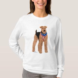 Patriotic Airedale Terrier T-Shirt