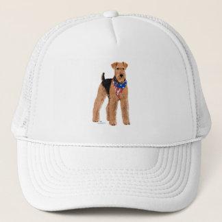 Patriotic Airedale Terrier Trucker Hat