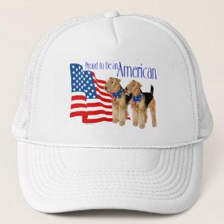 Patriotic Airedale Terriers Trucker Hat
