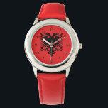 """Patriotic Albanian Flag Watch<br><div class=""""desc"""">The national flag of Albania.</div>"""