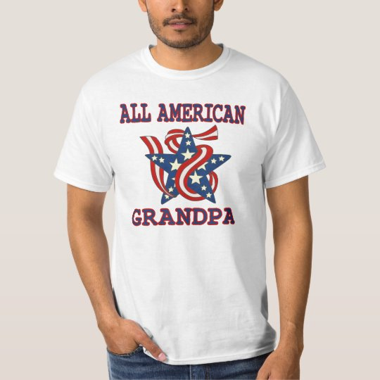 Patriotic All American Grandpa T-Shirt