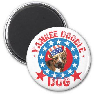 Patriotic Am Staff Magnet