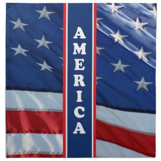 Patriotic Amercia Red White & Blue Cloth Napkin