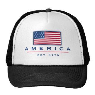 """Patriotic """"America Est 1776"""" hat"""