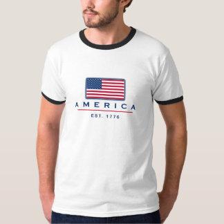 """Patriotic """"America Est 1776"""" T-shirt"""