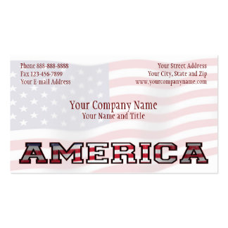 Patriotic America Government Non Profit Business Business Cards