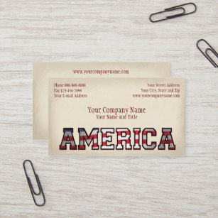 patriotic america government non profit business business card - Non Profit Business Cards