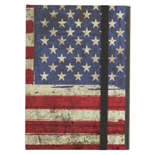 Patriotic America Grunge Flag iPad Air Cases