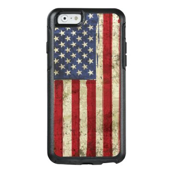 Patriotic America Grunge Flag Otterbox Iphone 6/6s Case by zlatkocro at Zazzle